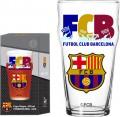 Copo Pub - 470 ml, Barcelona FCB - decorado e distribuído por Globimport sob licença, com embalagem