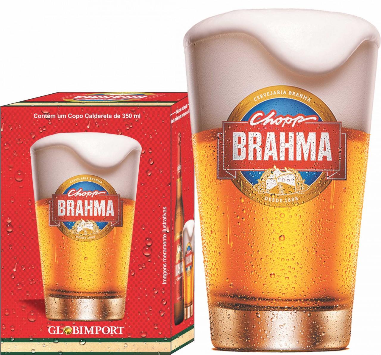 Copo Caldereta 350 ml Brahma Chopp com caixa litografada. 9477dcd083974
